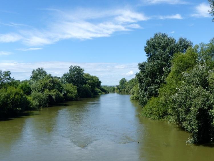 A Hernád a gibárti hídról fényképezve