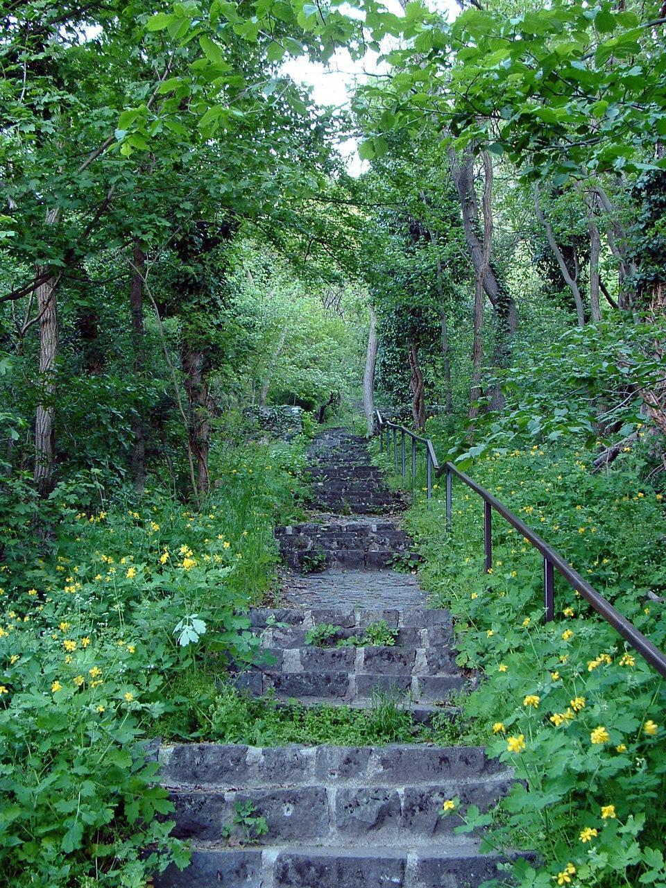 Steep climb on the Bujdosók lépcsője
