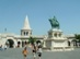 Budapest - Szent István szobra a Halászbástya előtt