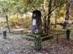 A Lenkó Ede emlékmű az erdészház mellett áll
