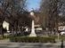 Nagymaros - A Fő téren álló Millenniumi emlékmű. mögötte már látszik a római katolikus templom
