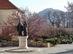 Nagymaros - Szent István és Boldog Gizella szobra a templom mellett