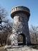 A 2013-ban felújított Julianus kilátó észak felől nézve