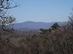 Jól látszik a távolban a Nagy-Hideg-hegyre felkapaszkodó Inóci-vágás is