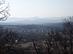 Visszatekintés Kóspallagra és a Visegrádi-hegységre a keresztektől.