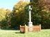 Egy erdei rakodó tisztásán áll a Fultán kereszt