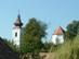 Alsópetény - Jól látszik a templom különálló harangtornya