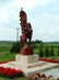 Faragott Rákóczi szobor Romhány és Kétbodony között az orsztágút szélén