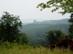 Kilátás a Gyertyános oldalából Hollókő várára esőben
