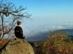Kilátás a Szamár-kőről a ködös Zagyva-völgyre