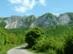 A Bél-kő látképe a Bélapátfalvára vezető aszfaltútról