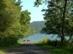 A régi országút eltűnik a víztároló duzzasztott vizében