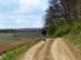 A Kecske-pad irtásfoltos tetején vezet a földút