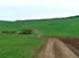 Mezei földúton vágunk át a széles Mocsolya-völgyön