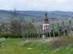 Letekintés a dombról Baktakék görög katolikus templomára