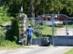 Pecsételés a gibárti vízerőmű kapujára szerelt bélyegzővel