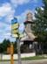 Turistaút elágazás Hernádcéce református templománál