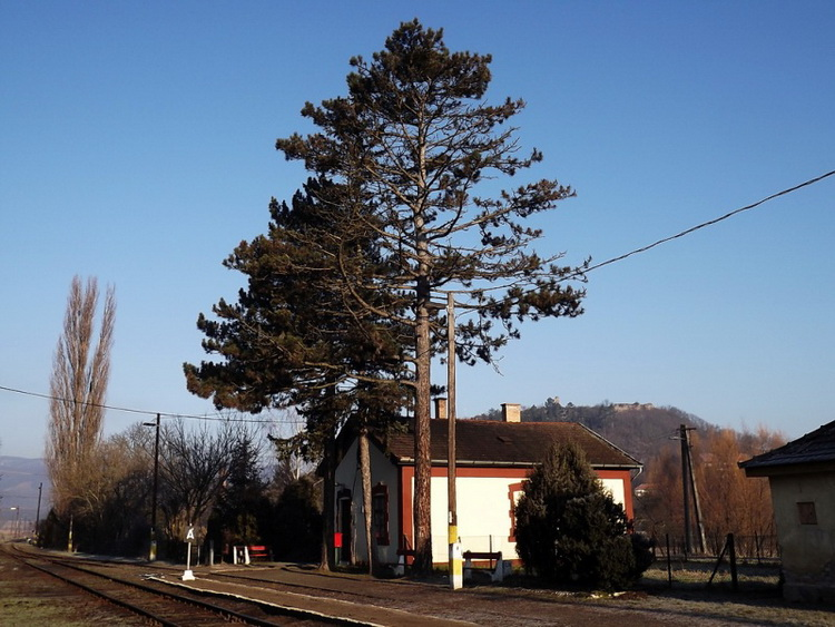 The small railway station of Nógrád village