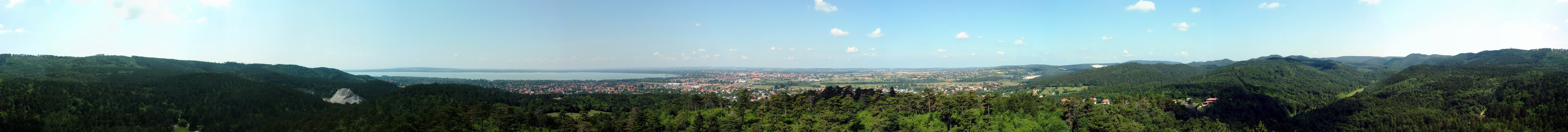 360-degree panorama from the Festetics lookout tower to Keszthely and to the Balaton Lake