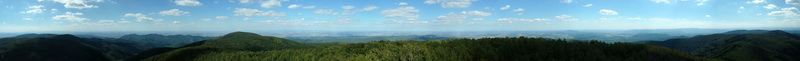 360-degree panorama from the lookout tower of Csóványos to the Börzsöny Mountains