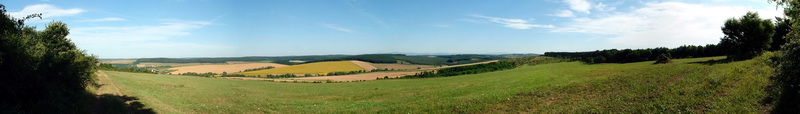 Panoramic view from the fields above Felsővadász village
