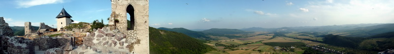 Panoramic view from Castle of Füzér to the Zemplén Mountains 2