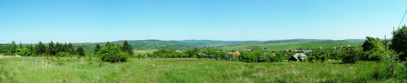 Panoramic view from the fields above Mályinka village