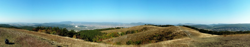 Panoramic view from the top of Nagy-szénás Mountain to its surrounding