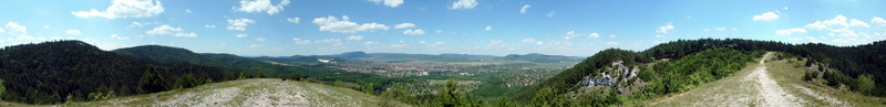 360-degree panorama from the Zsíroshegy Hill to the environs