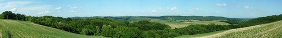 Borsfa - Panorámakép a falu feletti gerincről a környékre