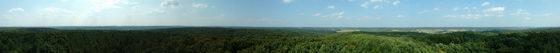 Magyarszombatfa - Panorámakép a falu feletti Ritási-domb geodéziai tornyából