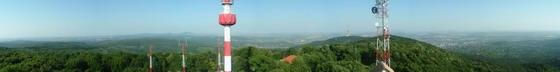 Panorámakép a Tubesről Pécsre és a Mecsekre