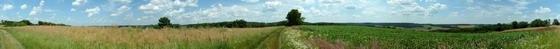 Zselickisfalud - Körpanoráma a falu feletti mezőkről