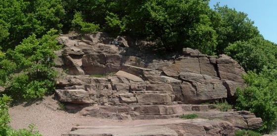 Panorámakép a Zsongor-kő sziklateraszáról