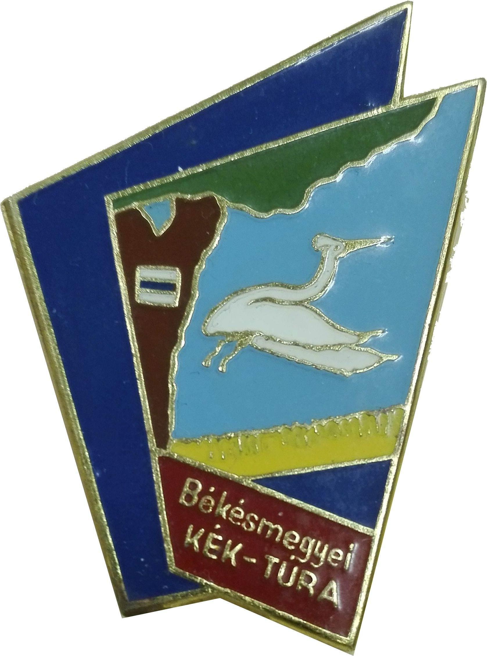 Az Alföldi Kéktúra  Békés megye (Körösszakál-Eperjes) szakaszjelvénye - A kép megnyitásához kattints ide!