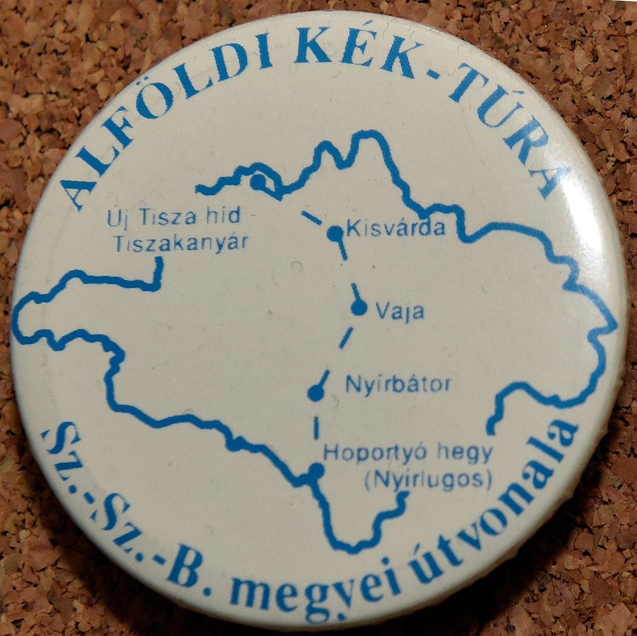 Az Alföldi Kéktúra Szabolcs-Szatmár-Bereg megyei szakaszjelvénye - A kép megnyitásához kattints ide!