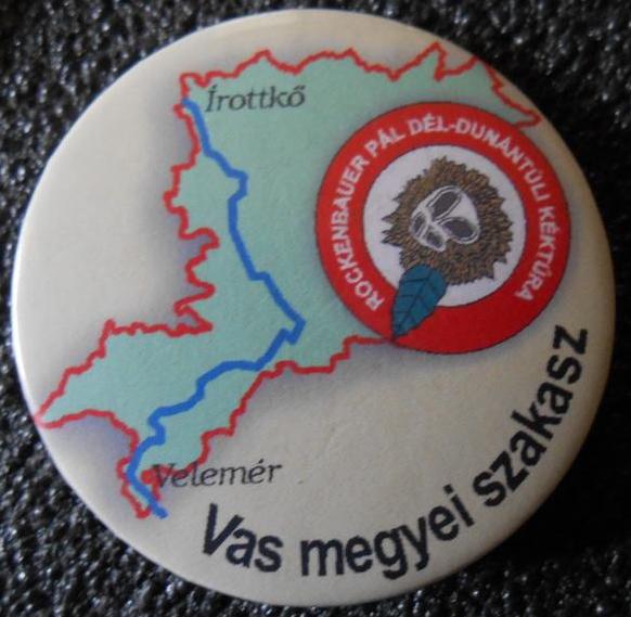 A Rockenbauer Pál Dél-dunántúli Kéktúra Vas megyei szakaszjelvénye - A kép megnyitásához kattints ide!