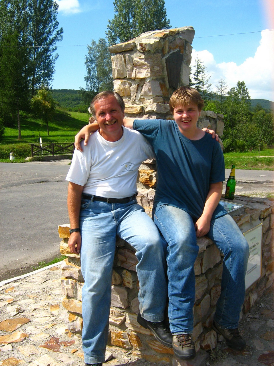 With my son after the finishing of the Blue Trail in 2006